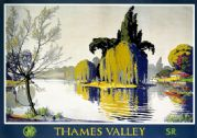 Thames Valley. Vintage GWR/SR Travel Poster by Walter E Spradbery